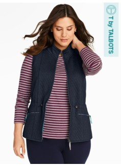 Quilted Knit Vest