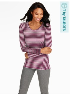 Fresh Jersey Stripe Long Sleeve Tee