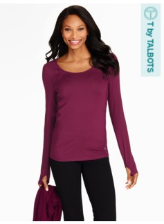 Aspire Solid Long Sleeve Tee