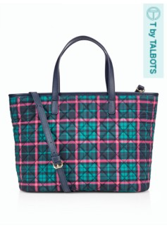 Quilted Plaid Satchel