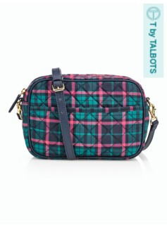 Quilted Plaid Crossbody Bag