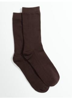 Womans Plus Microfiber Flat Knit Trouser Socks