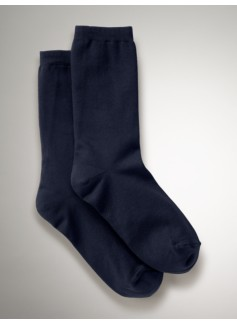 Womans Microfiber Flat Knit Trouser Socks