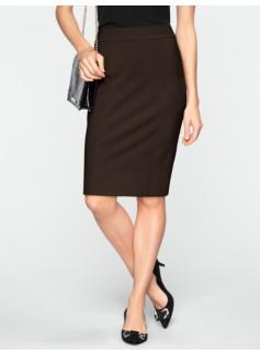 Slimming Ponte Knit Pencil Skirt
