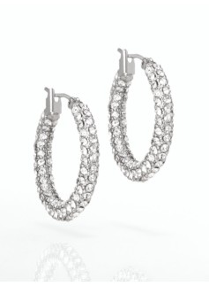 Pav� Hoop Earrings