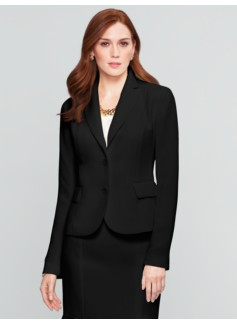 Seasonless Crepe Two-Button Blazer