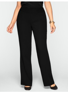 Heritage Seasonless Crepe Wide-Leg Pants