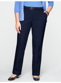Curvy Twill Bootcut Trousers