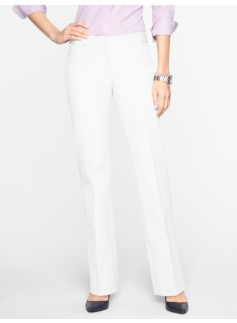 Slimming Signature Cotton Bi-Stretch Straight-Leg Trousers