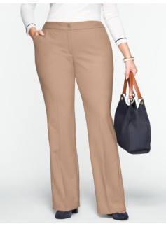 Curvy Lindsey Flare-Leg Trousers