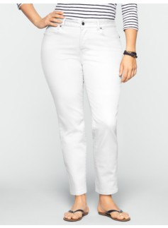 Slimming Curvy Colored Denim Ankle Jeans