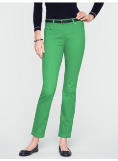Slimming Heritage Colored Denim Ankle Jeans