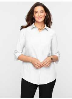 Wrinkle-Resistant Hidden Placket Shirt