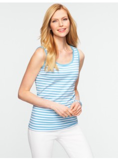 Stretch Weekend Striped Tank