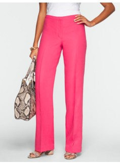 Signature Linen Wide-Leg Pants