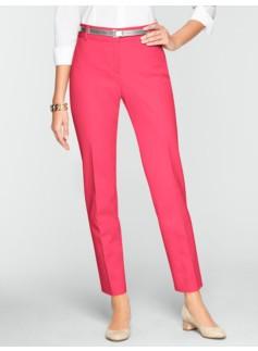 Slimming Curvy Cotton Bi-Stretch Ankle Pants