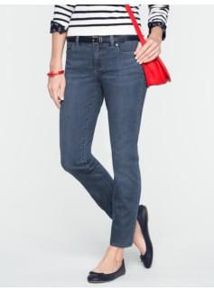 Slimming Signature Medium Ocean Wash Ankle Jeans