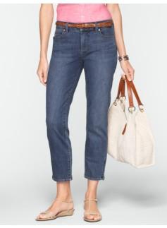 Slimming Signature Medium Ocean Wash Crop Jeans