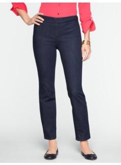 Slimming Heritage Side-Zip Ankle Jeans