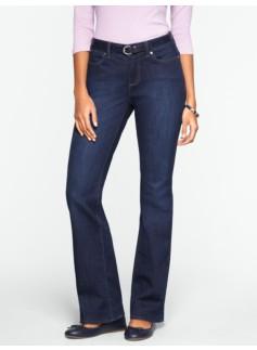 Slimming Curvy Dark Ocean Wash Bootcut Jeans