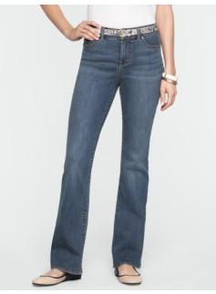 Slimming Curvy Medium Ocean Wash Bootcut Jeans