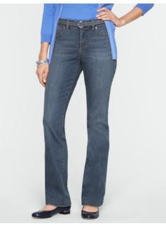 Slimming Curvy Medium Ocean Wash Straight-Leg Jeans