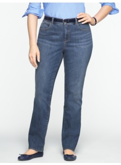 Slimming Heritage Medium Ocean Wash Straight-Leg Jeans