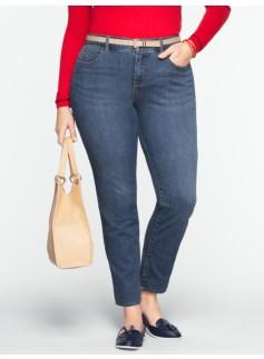 Slimming Curvy Medium Ocean Wash Ankle Jeans