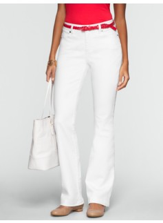 Slimming Curvy White Bootcut Jeans