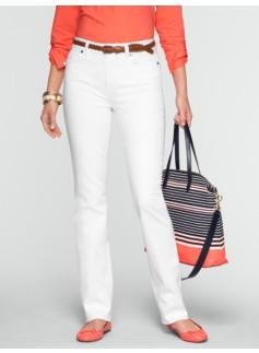 Slimming Heritage White Straight-Leg Jeans