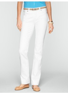 Slimming Signature White Straight-Leg Jeans