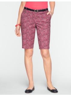 "11"" Floral Bermuda Shorts"