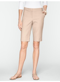 "Slimming 11"" Double-Weave Bermudas"