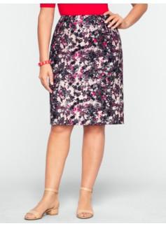 Textured Floral Skirt