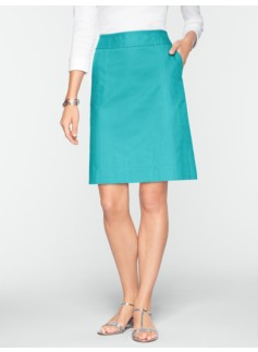 Textured A-Line Skirt