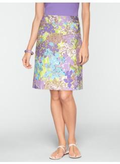 Flower Garden A-Line Skirt