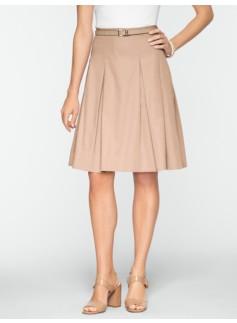 Pleated Sateen Skirt