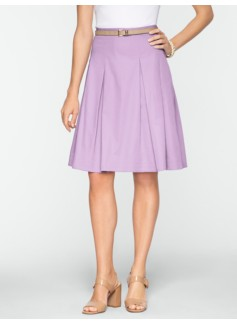Pleated Sateen Skirt