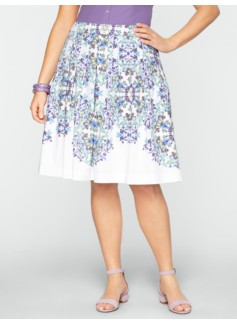 Kaleidoscope Pleated Skirt