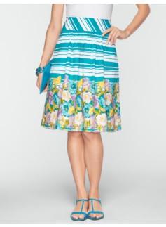 Stripe & Poppy Skirt