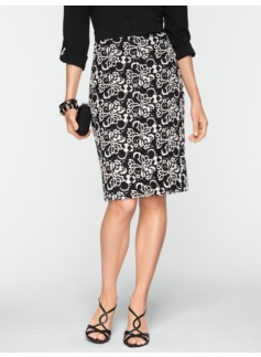 Tulip Lace Pencil Skirt