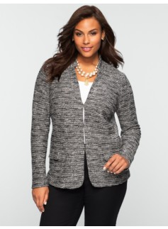 Tweed Stand-Collar Jacket