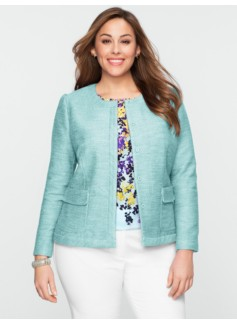Bethany Tweed Snap-Front Jacket