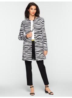Long Zebra-Print Jacket