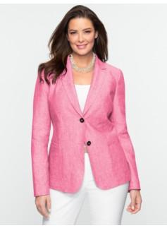 Cross-Dyed Linen Blazer
