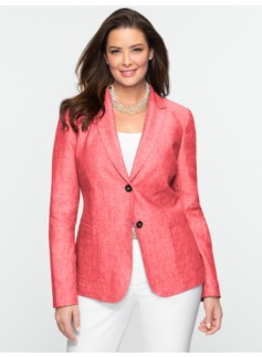 Cross-Dyed Linen Blazer