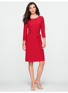 Pleat-Front Crepe Dress