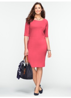 Ponte Elbow-Sleeve Dress
