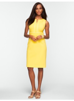 Piped Ponte Dress