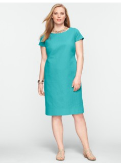 Chevron Cotton Jacquard Dress